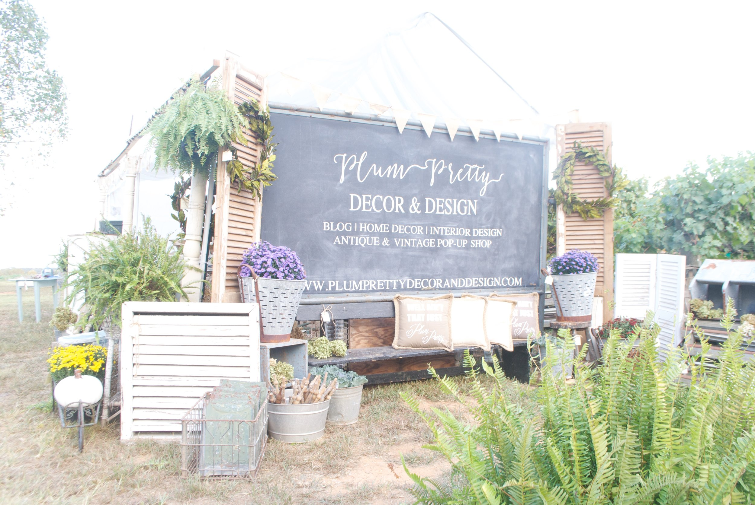 The Gray Door Market Pop Up 2016- Plum Pretty Decor and Design- Plum Pretty Decor and Design- Setup