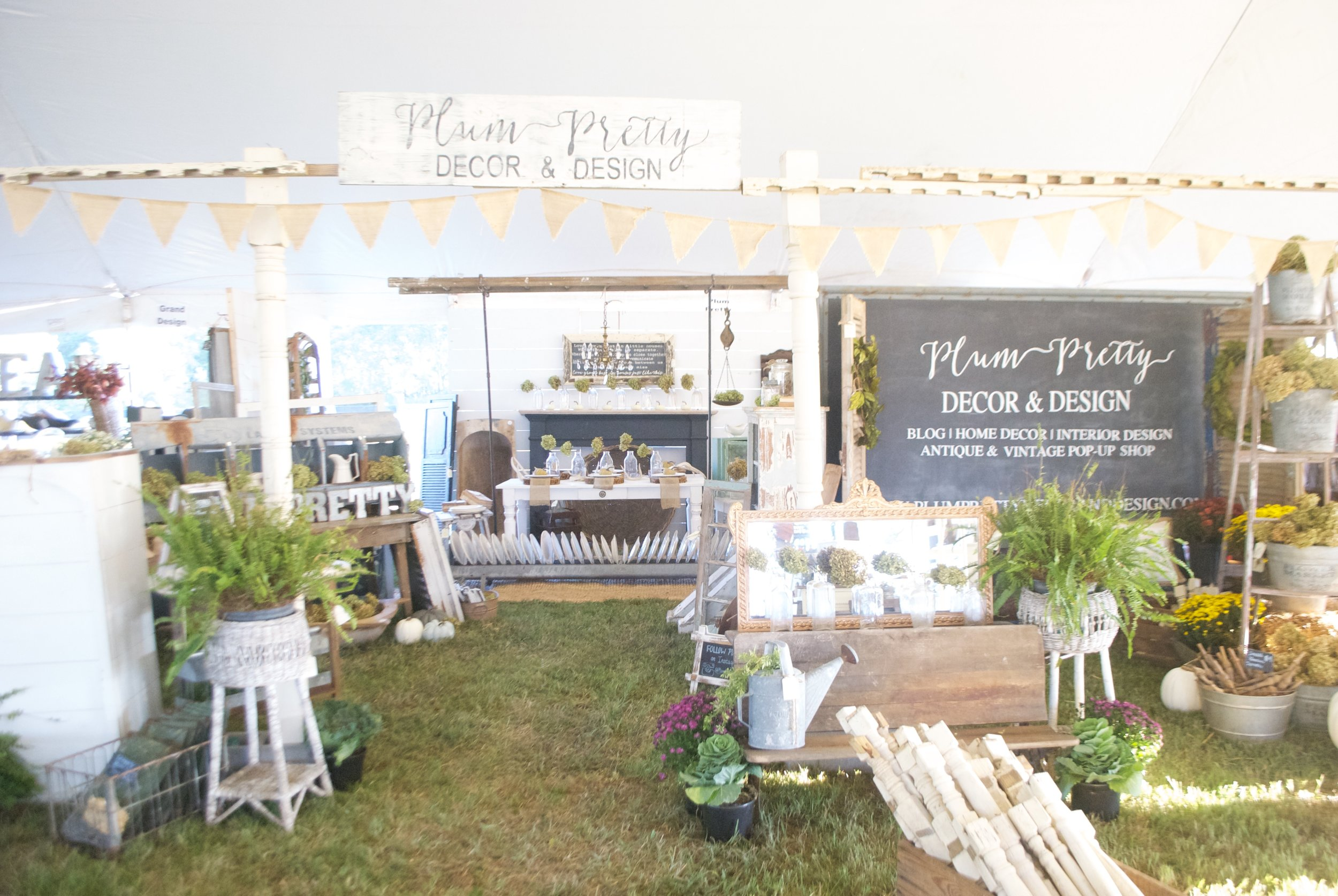 The Market on Chapel Hill- Booth Setup Complete- Plum  Pretty Decor and Design- Booth Design