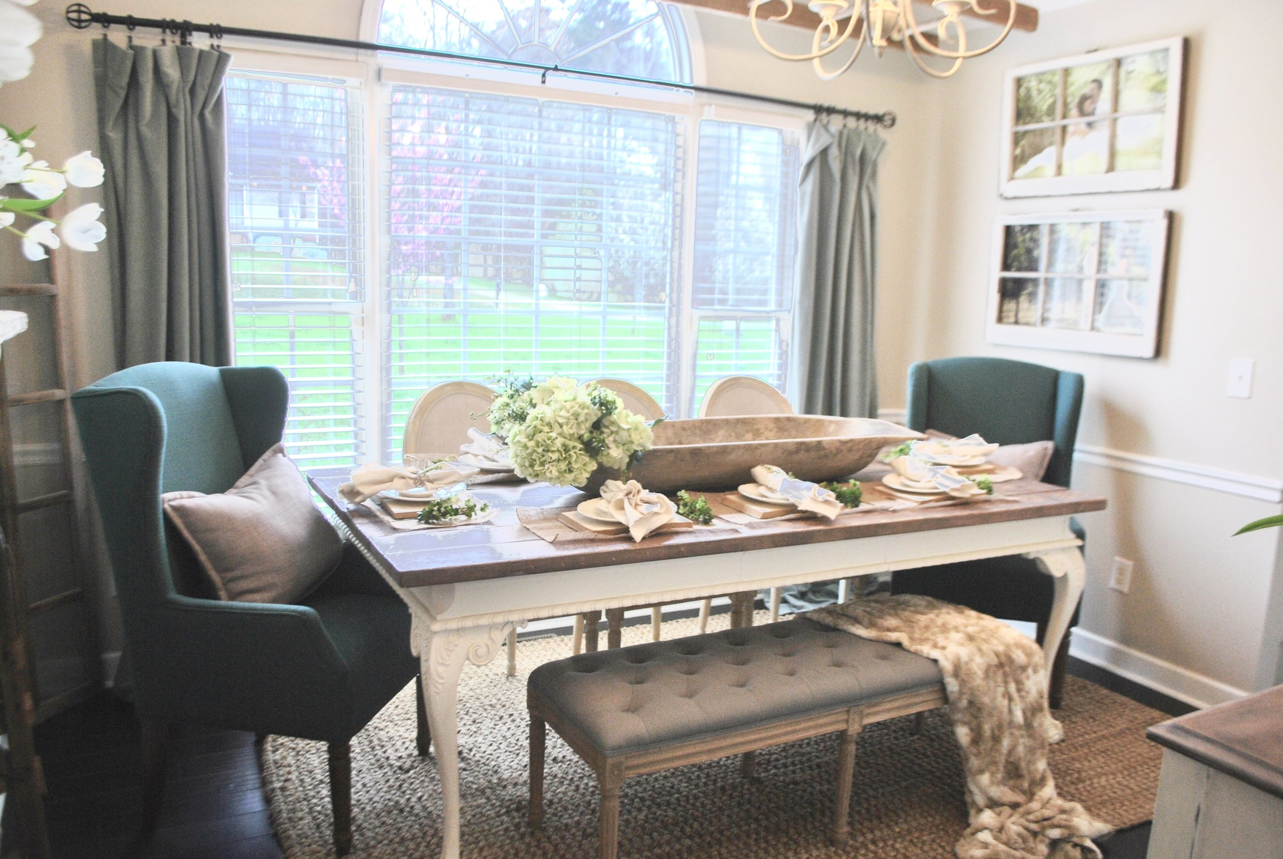 Farmhouse Style Dining Room by Plum Pretty Decor and Design