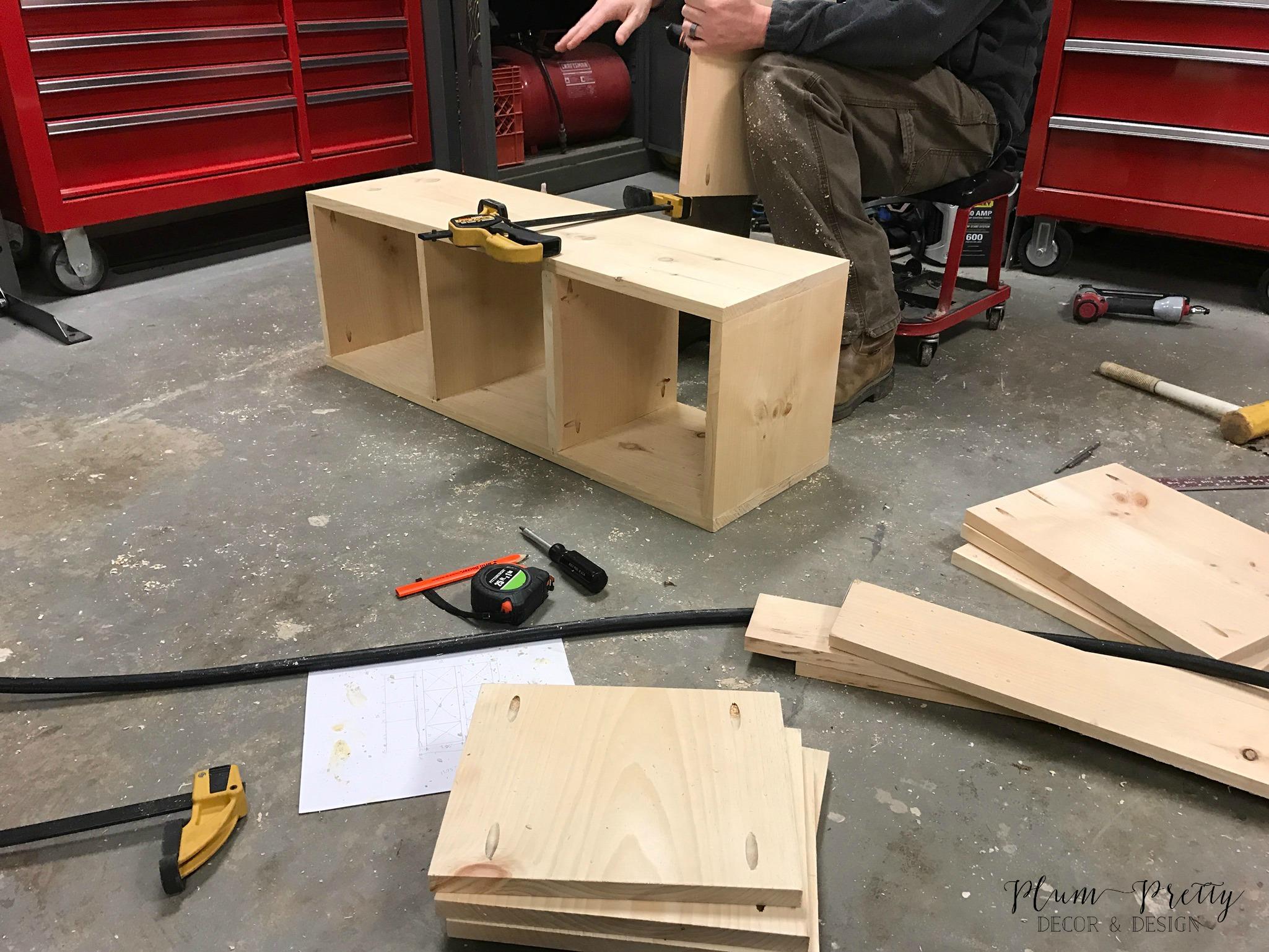DIY Farmhouse Nesting Box Tutorial- Plum Pretty Decor and Design