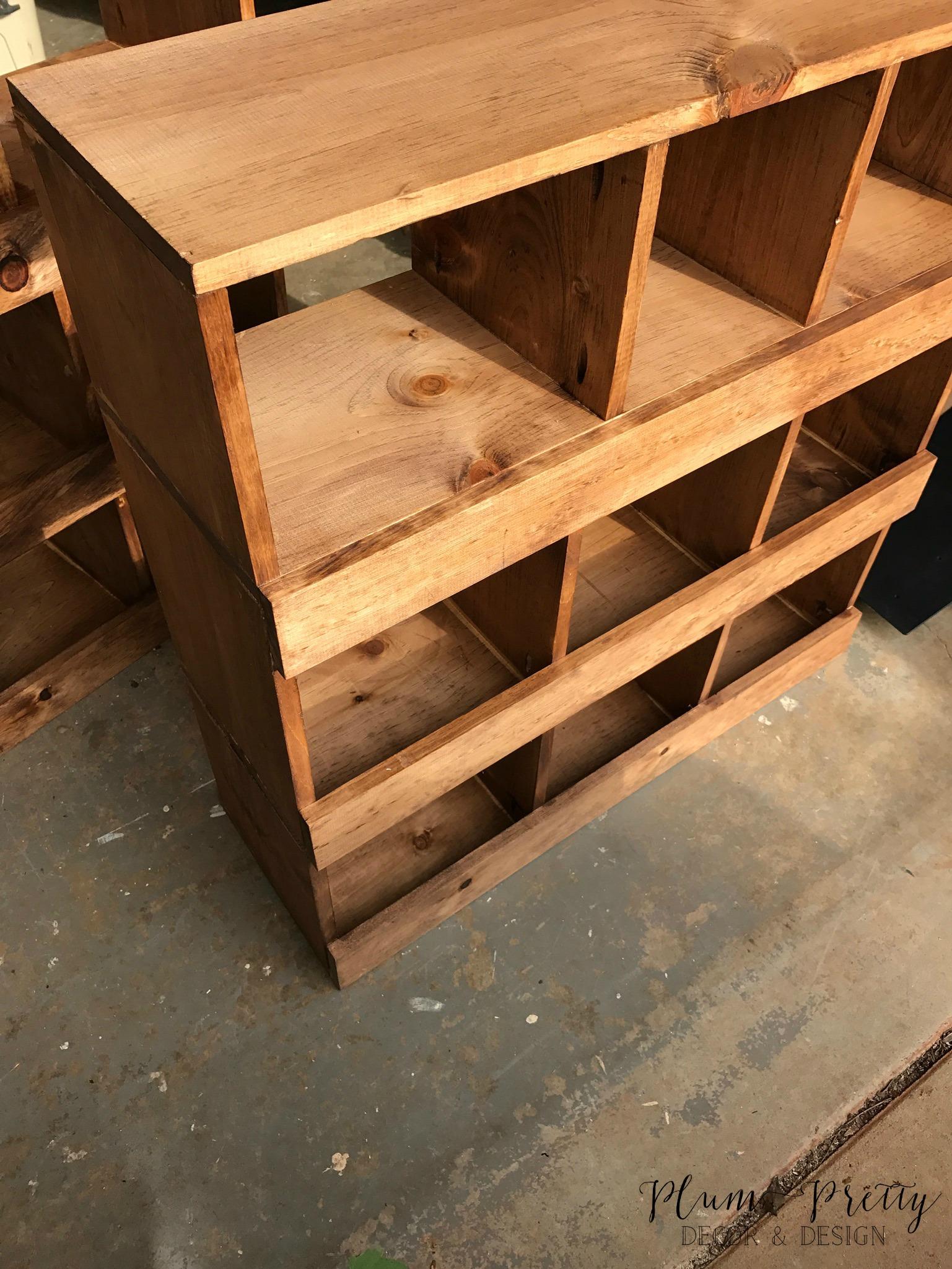 DIY Farmhouse Nesting Box Tutorial- Early American Stain- Plum Pretty Decor and Design