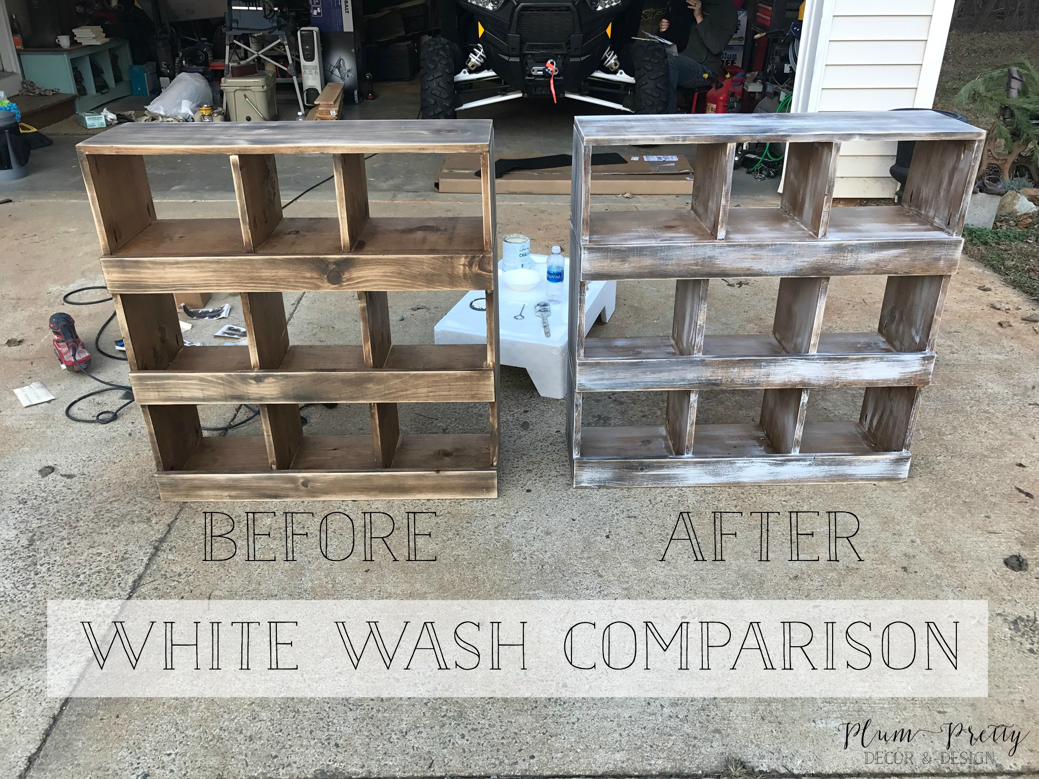 DIY Farmhouse Nesting Box Tutorial- How to achieve that white wash finish- Plum Pretty Decor and Design