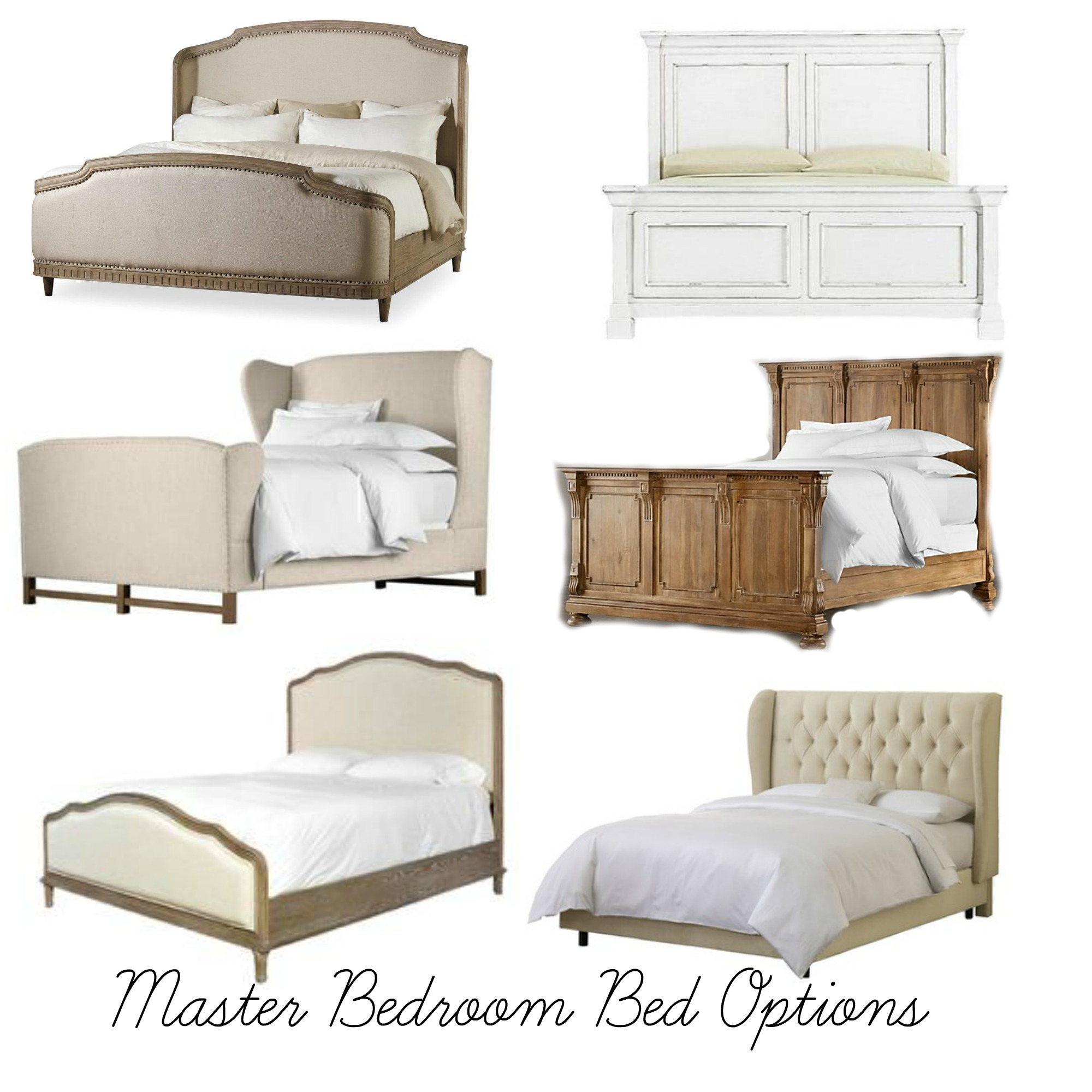Master Bedroom Bed Options- Plum Pretty Decor and Design