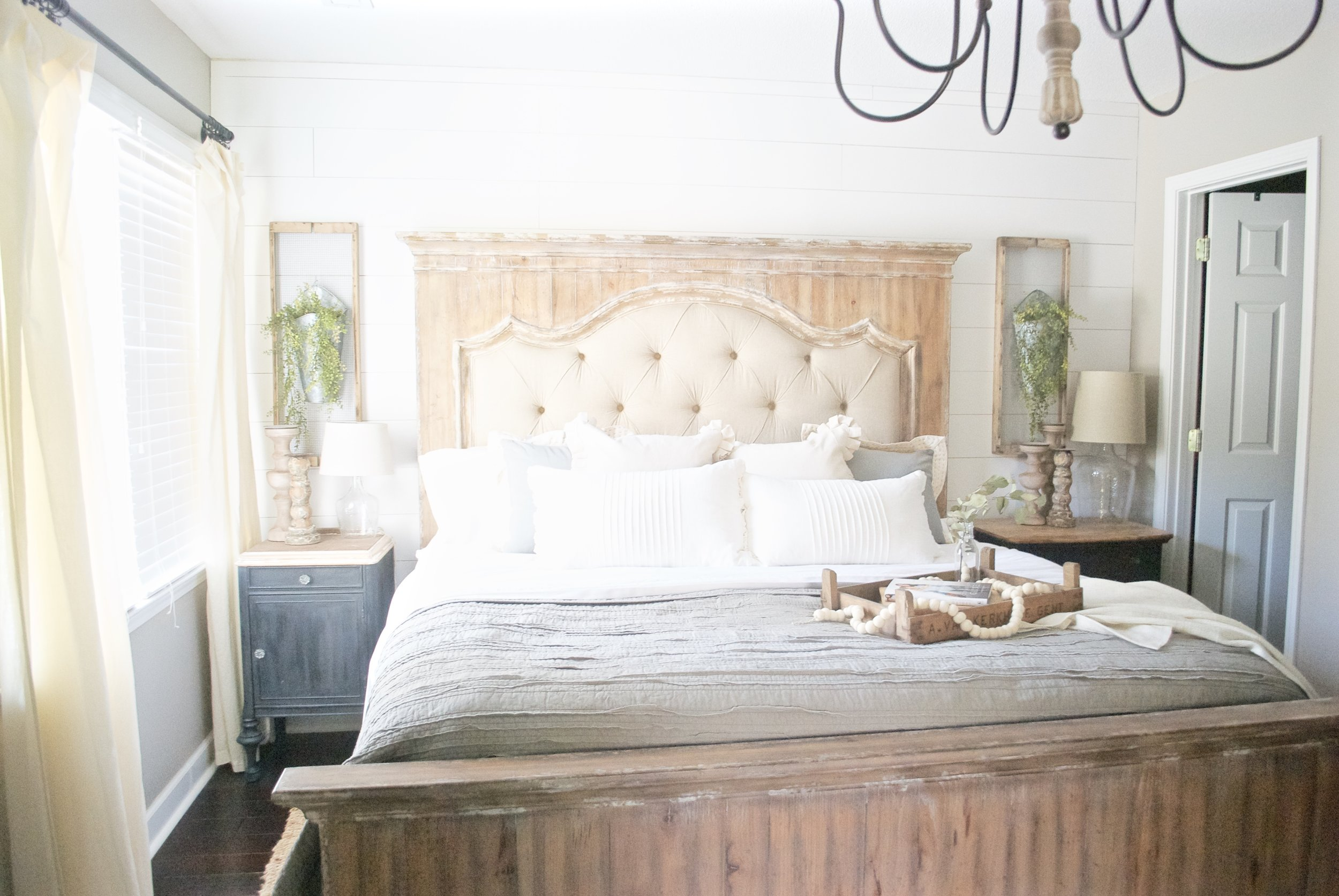 French Country Farmhouse Style Bed- Plum Pretty Decor and Design