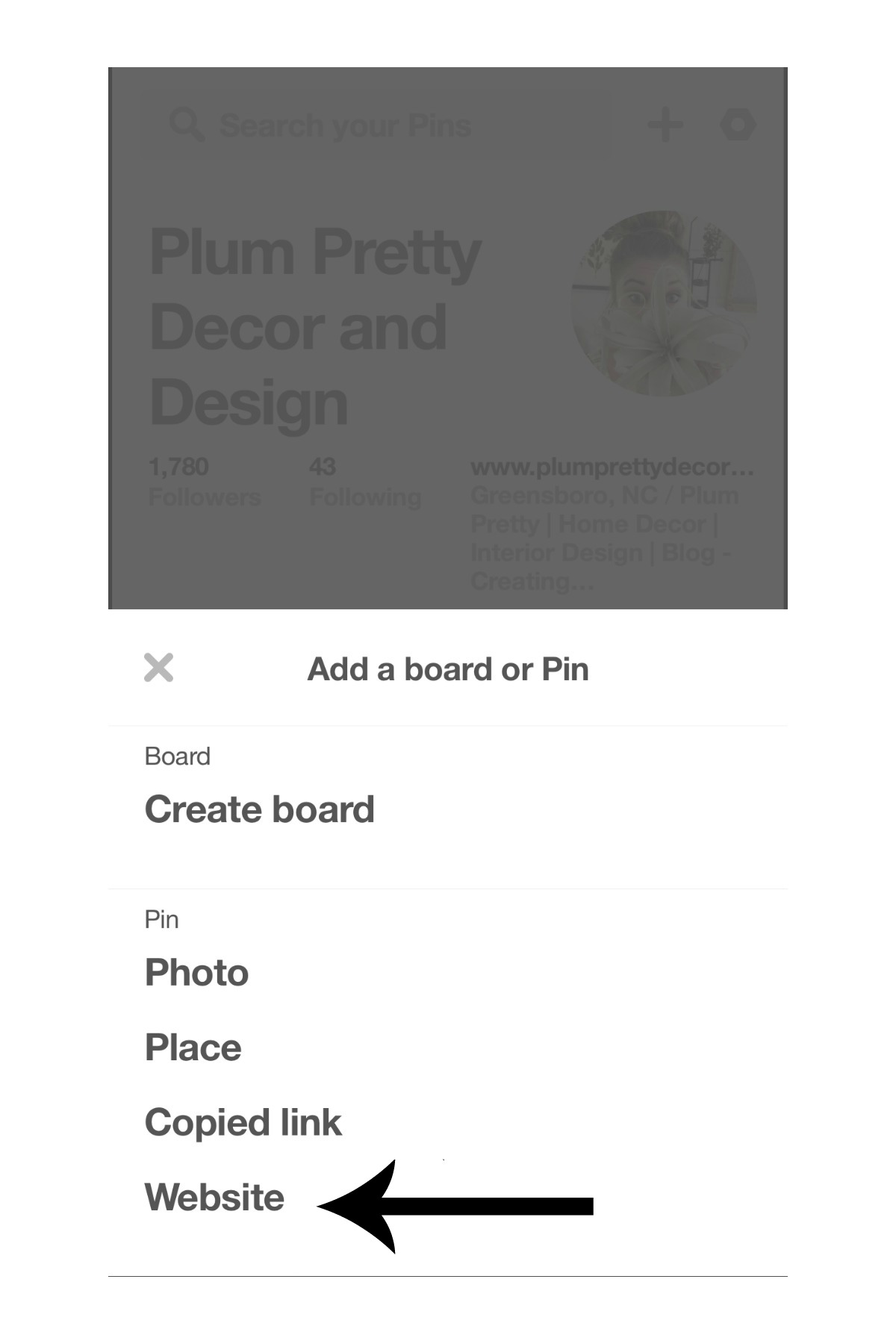 How to Save a Photo From a Website to Pinterest- Plum Pretty Decor and Design