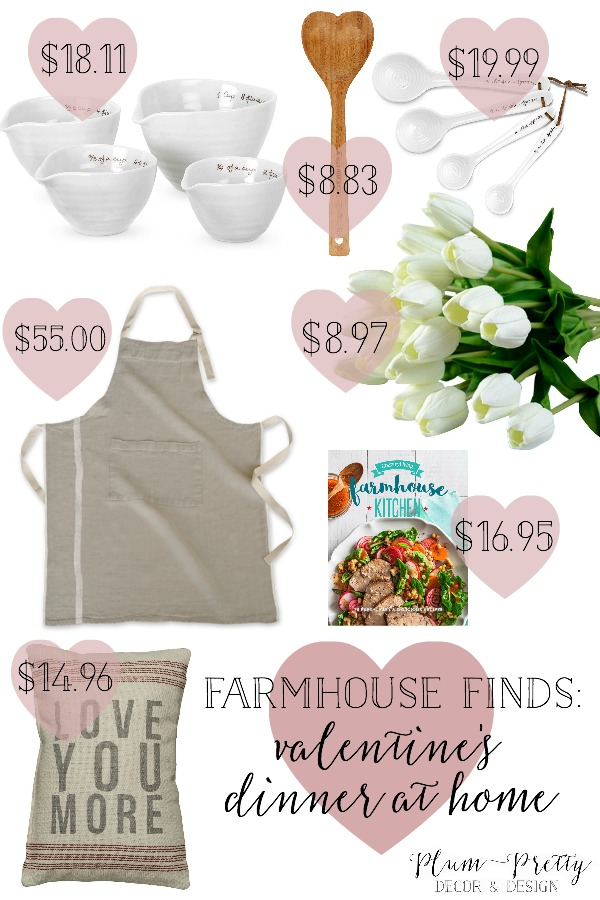 Farmhouse Finds- Affordable Farmhouse Decor for a Valentine's Dinner at Home!