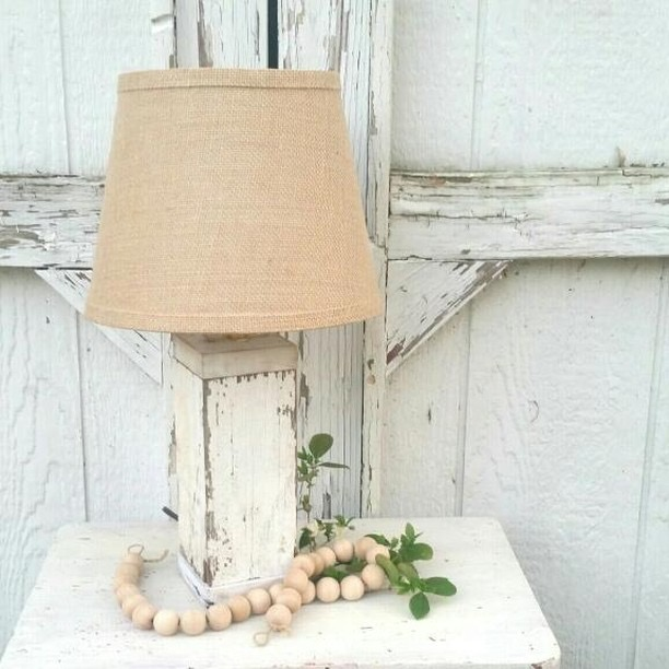Win This Chippy Architectural Lamp with Burlap Shade. The Ultimate Chippy Giveaway.