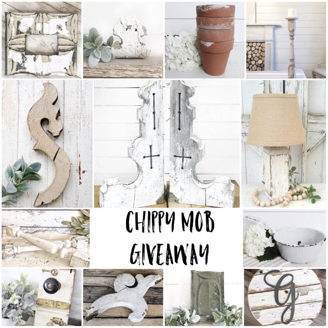 WIN all theses amazing items in an Ultimate Chippy Giveaway- Including a HUGE set of white chippy CORBELS.