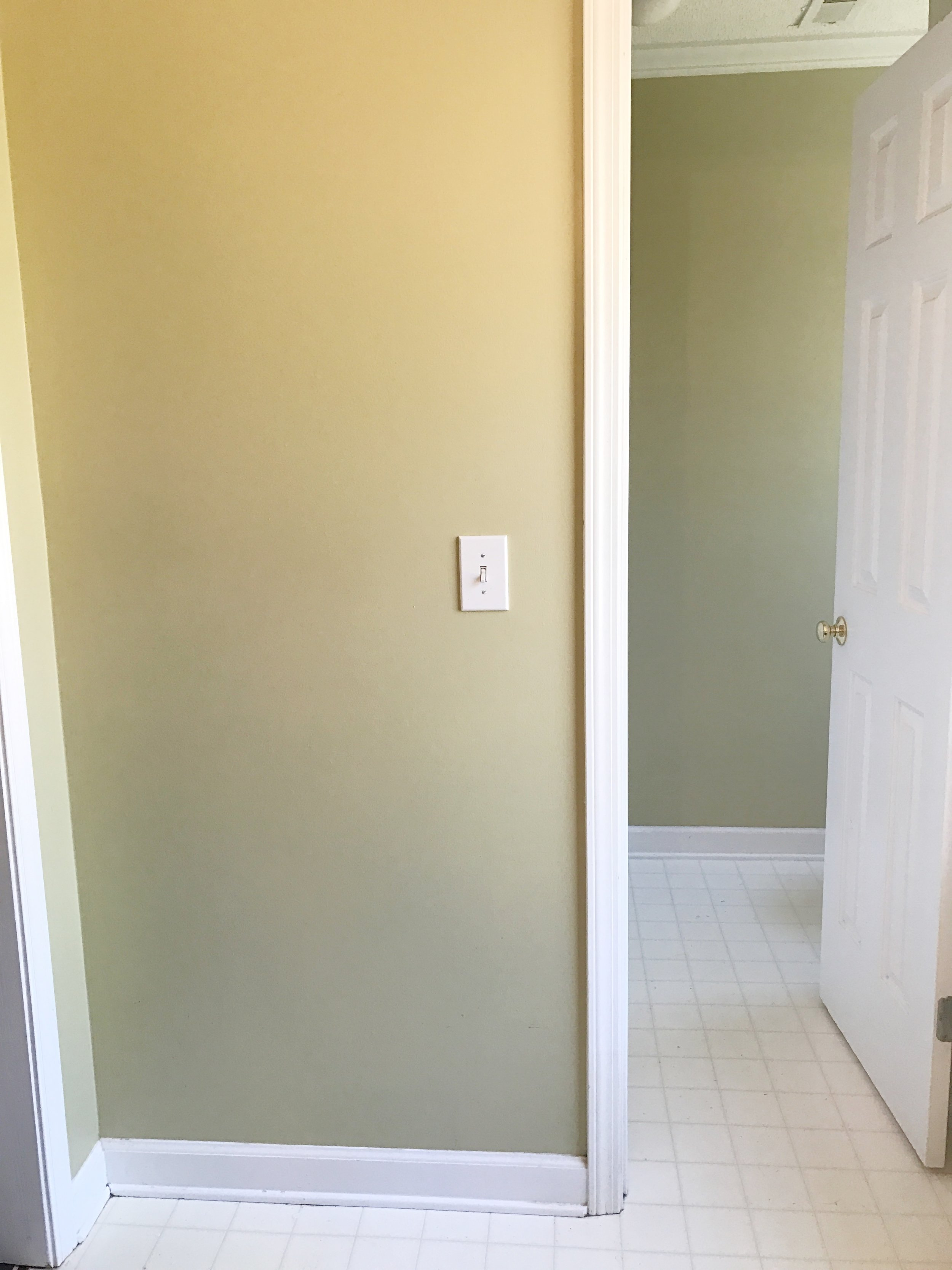 How to Paint Your Linoleum or Tile Floors to Look Like Patterned Cement Tiles- The Ugly Before