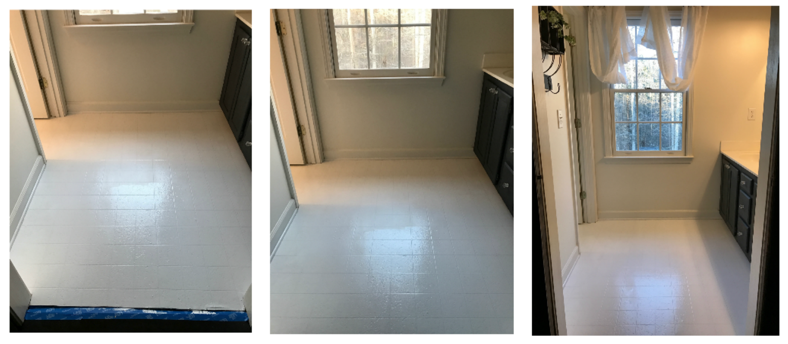 Sealing Your Linoleum Floors Before Stenciling Them To Look Like Cement Tiles- Full Tutorial