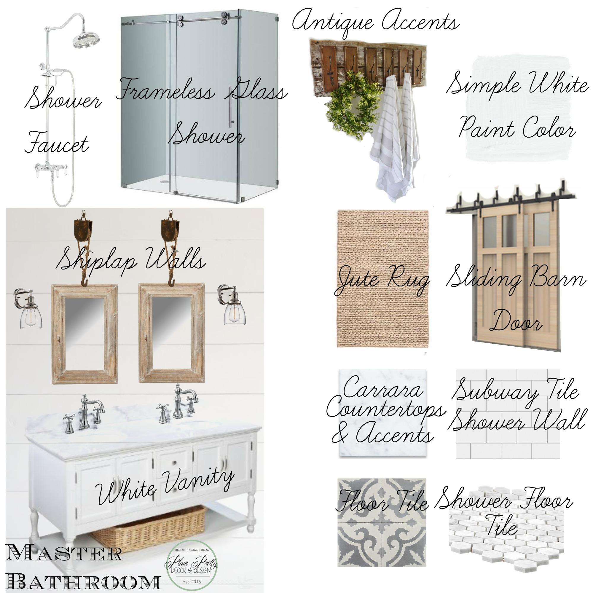 Farmhouse Master Bathroom Design Plans