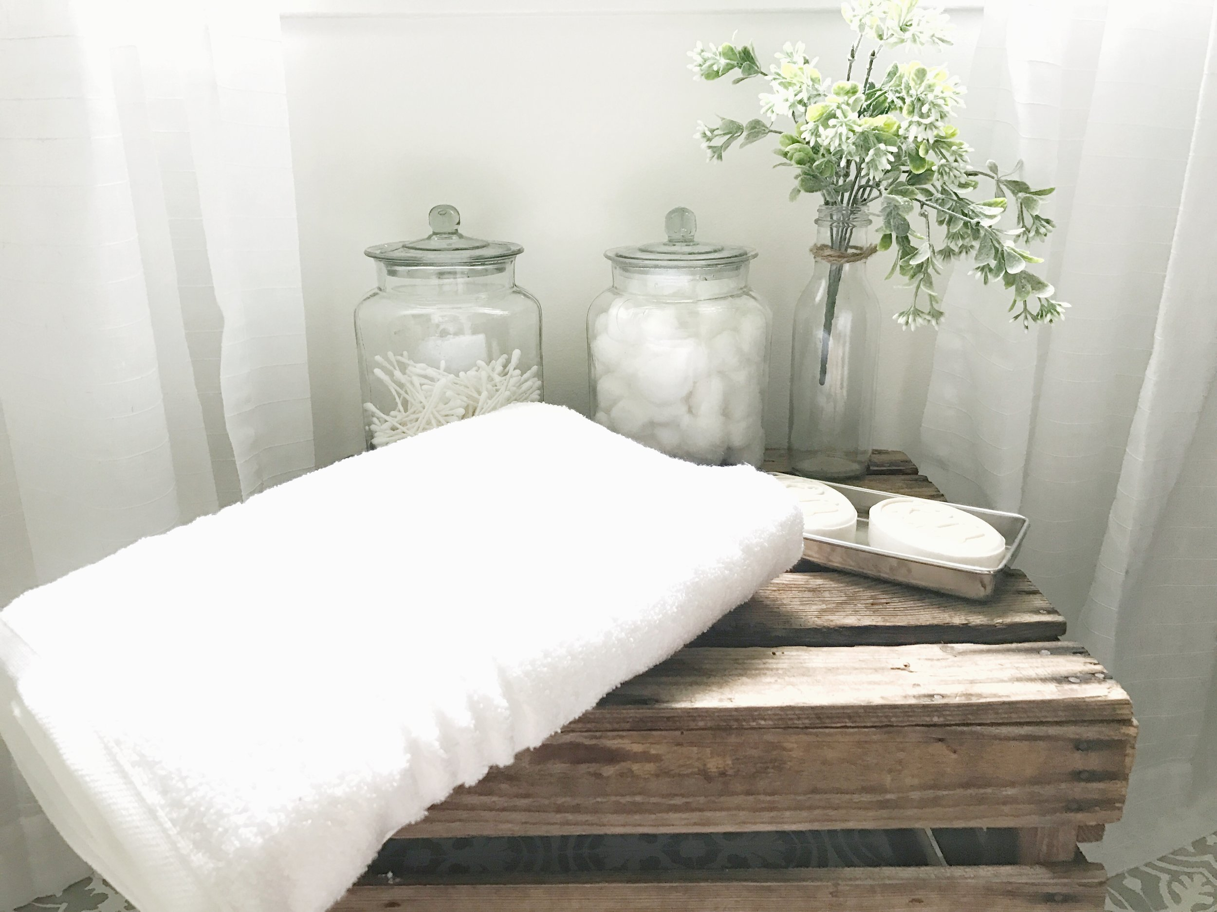 Farmhouse Style Budget Friendly Master Bathroom Makeover by Plum Pretty Decor and Design