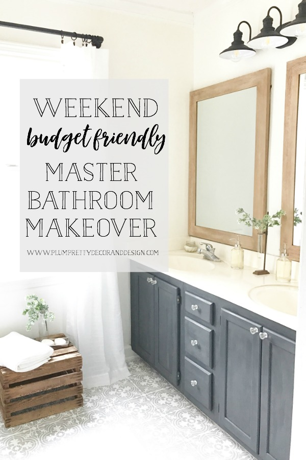 See this full farmhouse style budget friendly makeover over on Plum Pretty Decor and Design's Blog- Budget Friendly Tips- Paint Colors- Decor Sources and more...