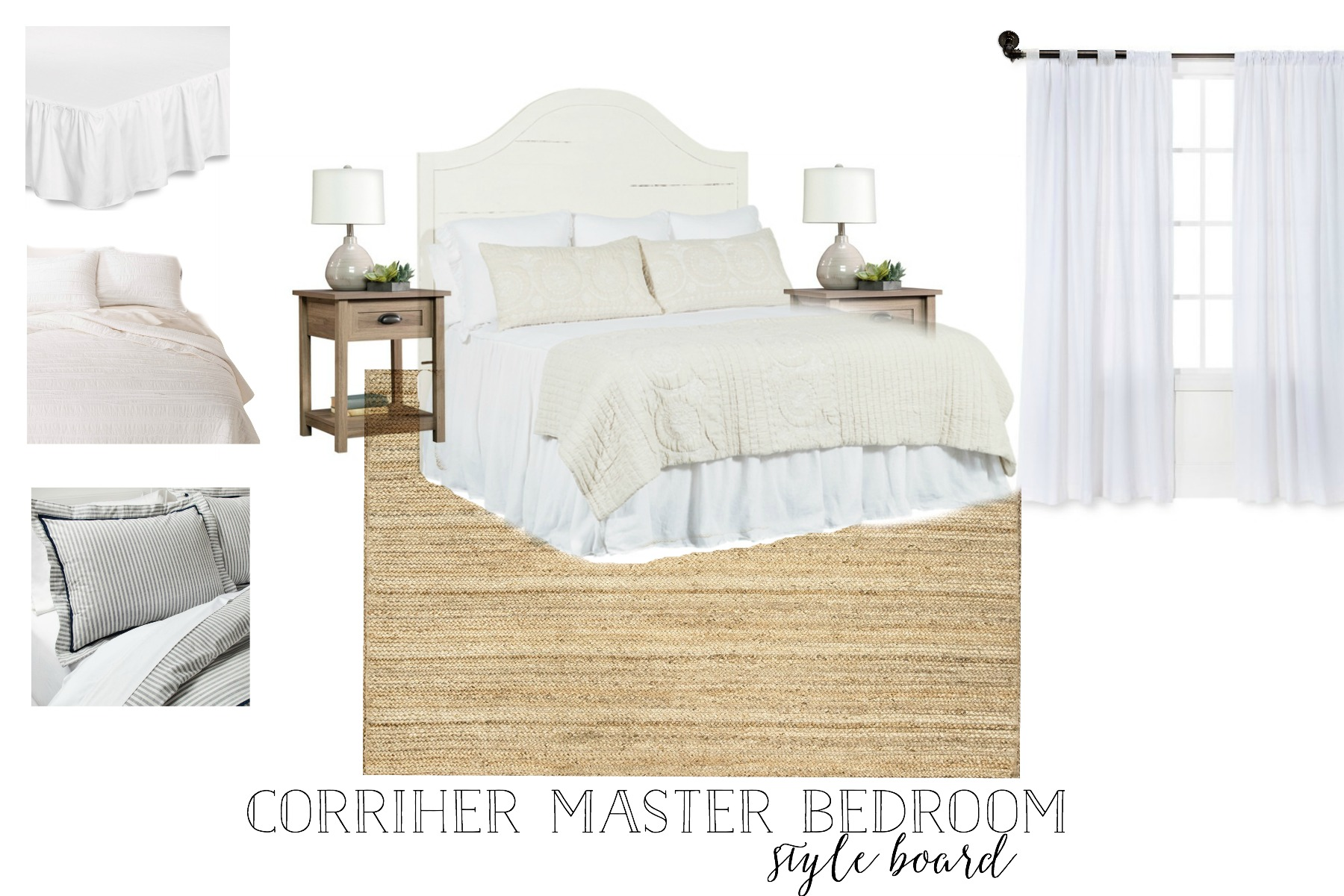 The Simple Abode's Farmhouse Style Style Board- Interior Design by Plum Pretty Decor and Design