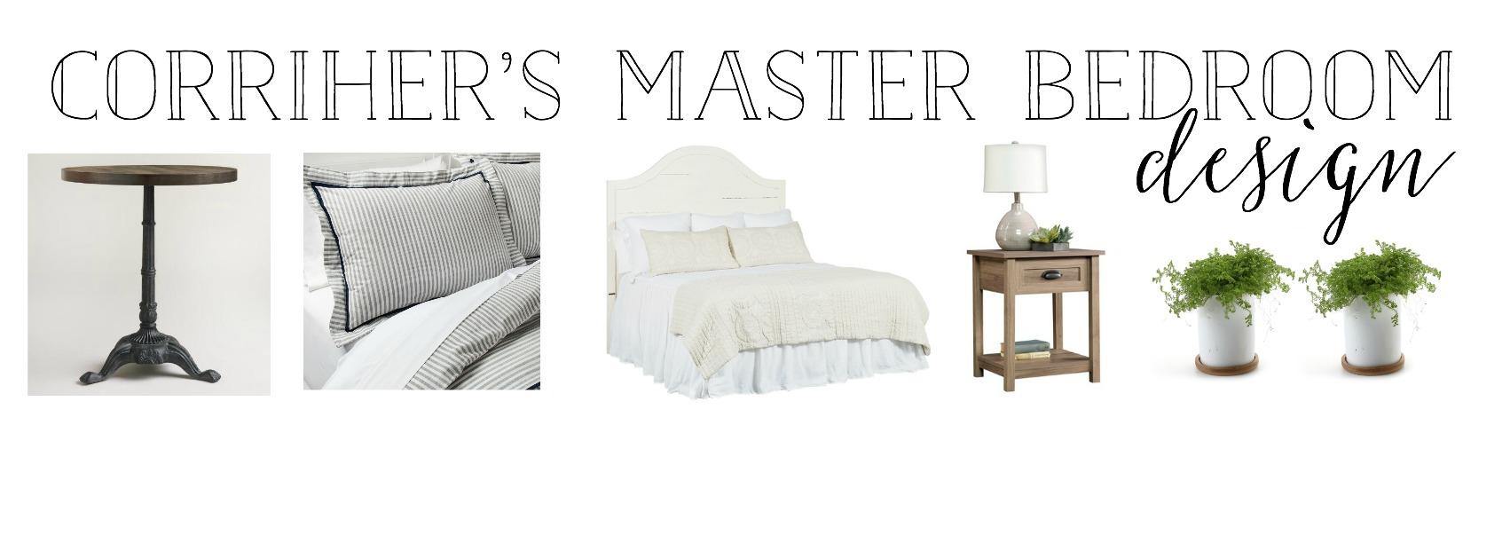 The Simple Abode's Master Bedroom Design Plan- Interior Design by Plum Pretty Decor and Design