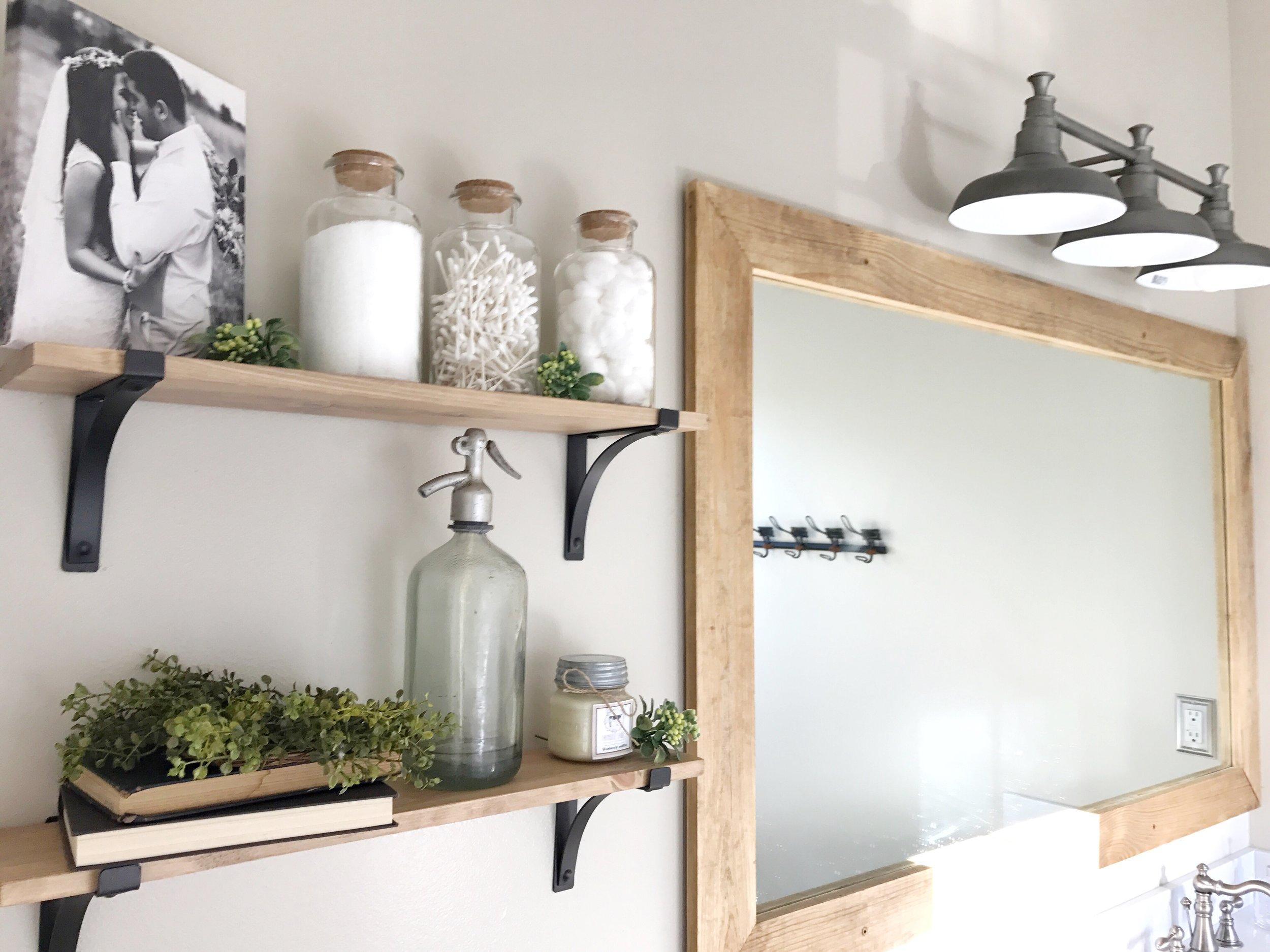The Simple Abode Interior Design Project- Farmhouse Style Bathroom- By Plum Pretty Decor and Design