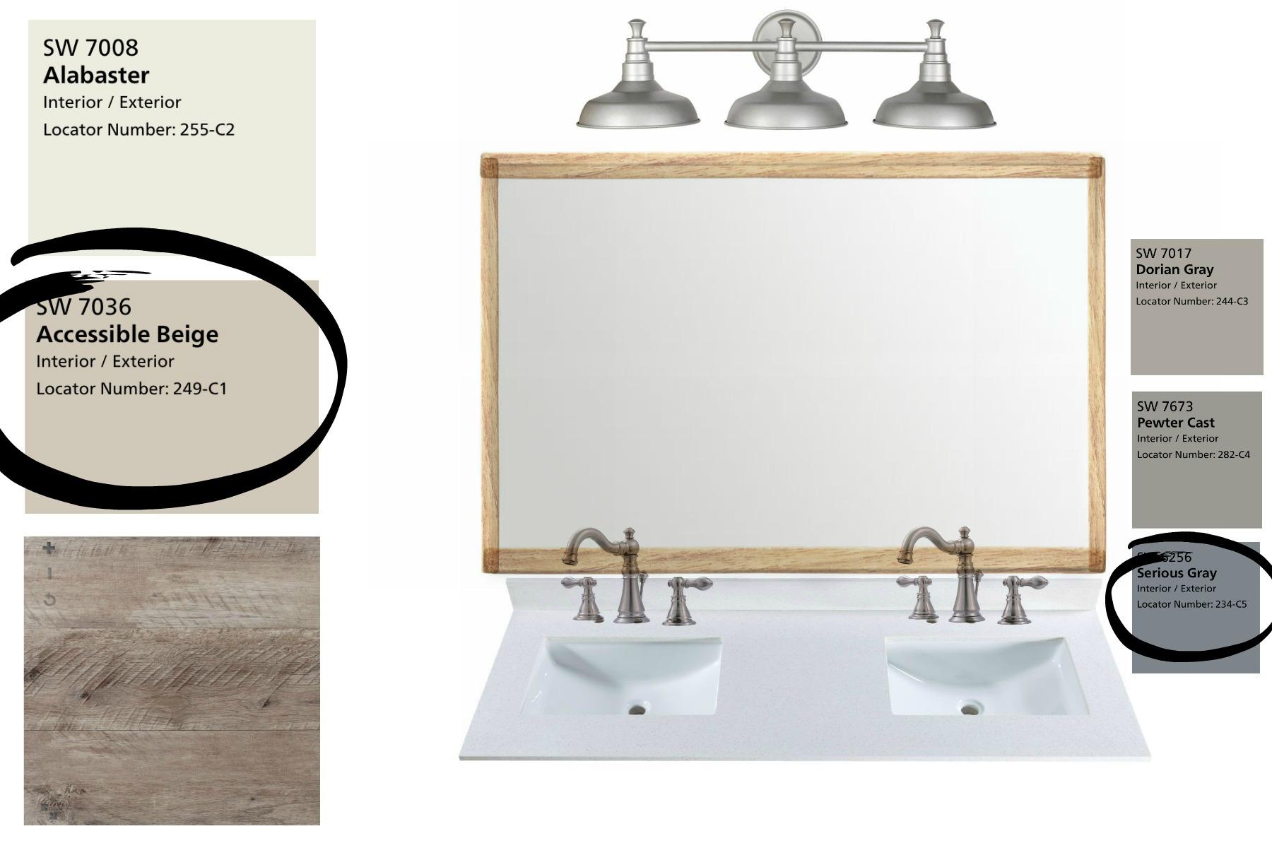The Simple Abode's Interior Design Project Style Board- By Plum Pretty Decor and Design