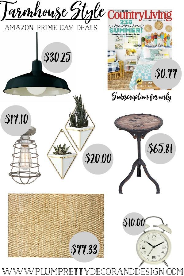 Amazon Prime Day Deals- Farmhouse Style by Plum Pretty Decor and Design
