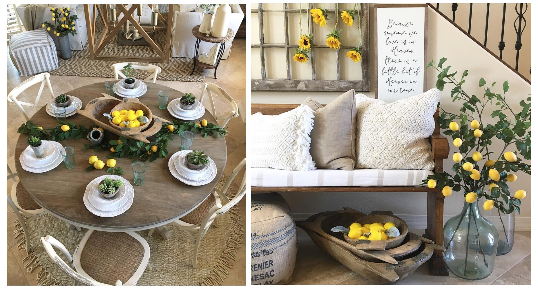 Liz of Desert Decor has the love for lemons too y'all! Check out her Instagram { HERE}  for more lemon inspo!