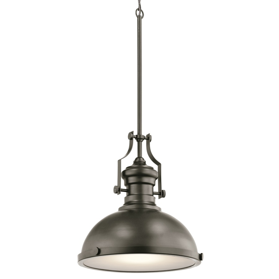 Kichler 12.2-in Bronze Industrial Warehouse Pendant- $99.98