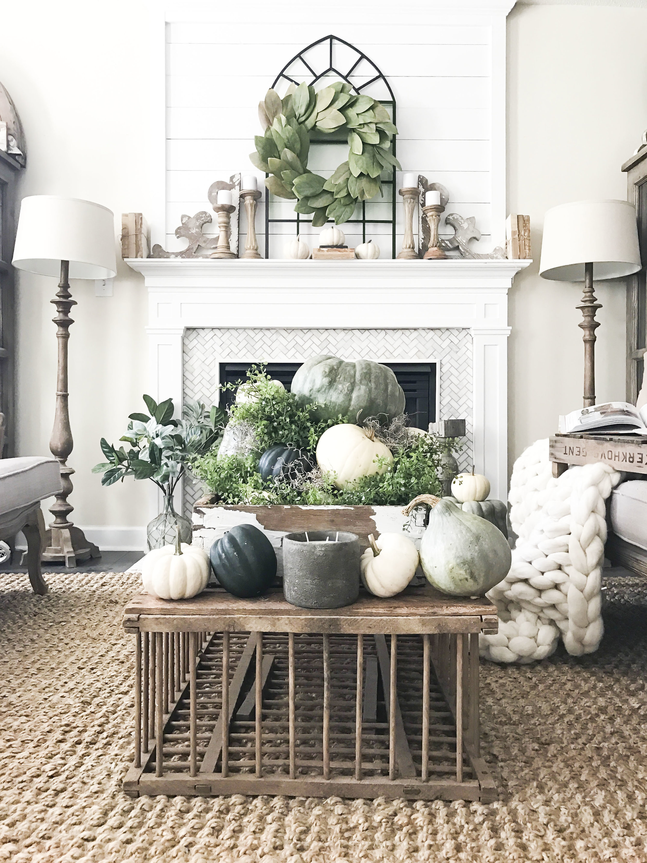 Fall Home Tour inside Plum Pretty Decor and Designs Fall Home- Living Room with a Neutral Fall Design