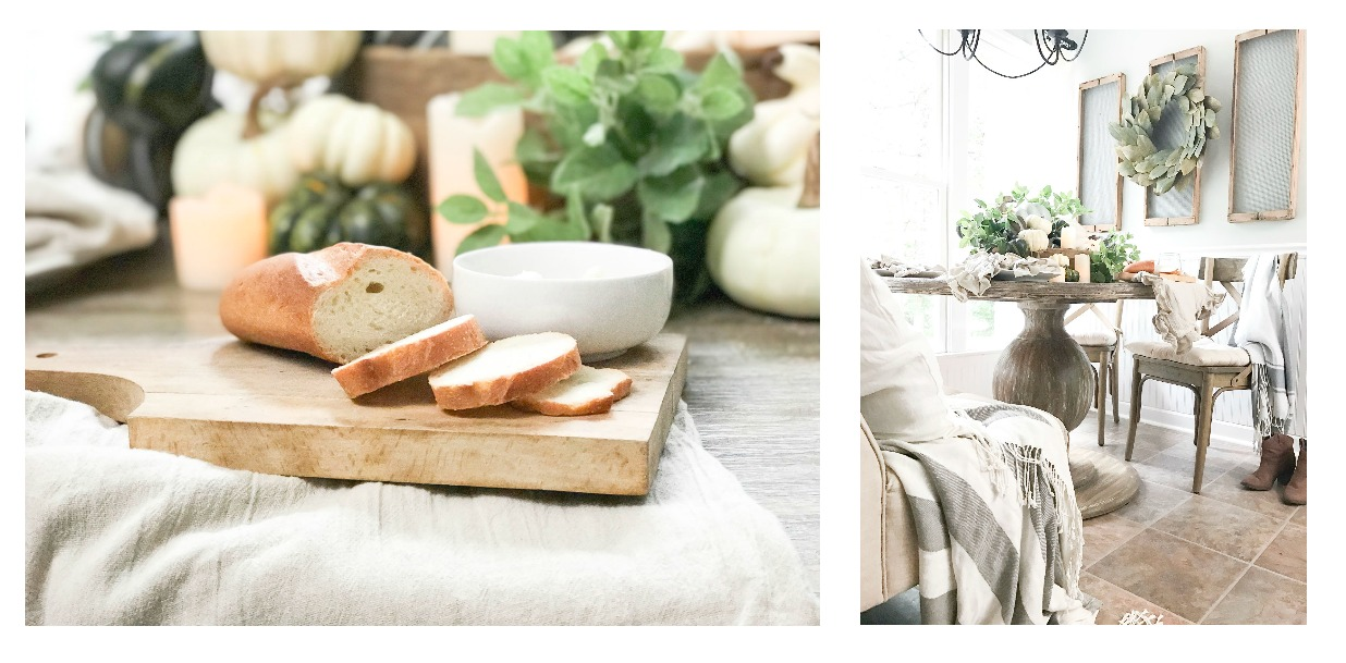 Fall Home Tour inside Plum Pretty Decor and Designs Fall Home- Breakfast Nook Fall Decor- Pumpkins