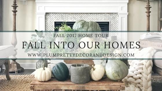 Fall into our Homes- Fall Home Tour inside Plum Pretty Decor and Designs Fall Home