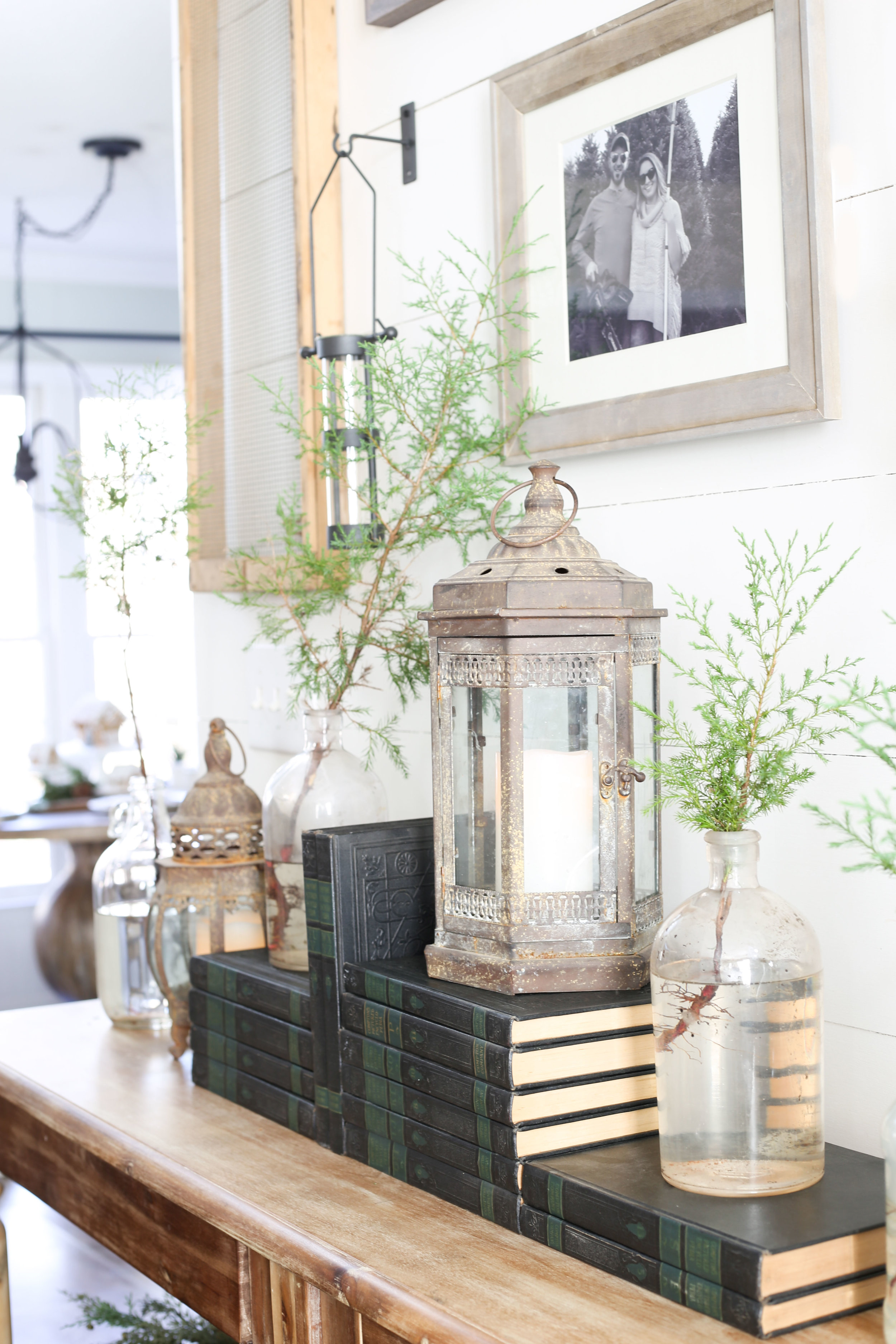 Christmas 2017 Home Tour: Deck The Blogs- Console with Gallery Wall- Plum Pretty Decor & Design's Christmas Home Tour