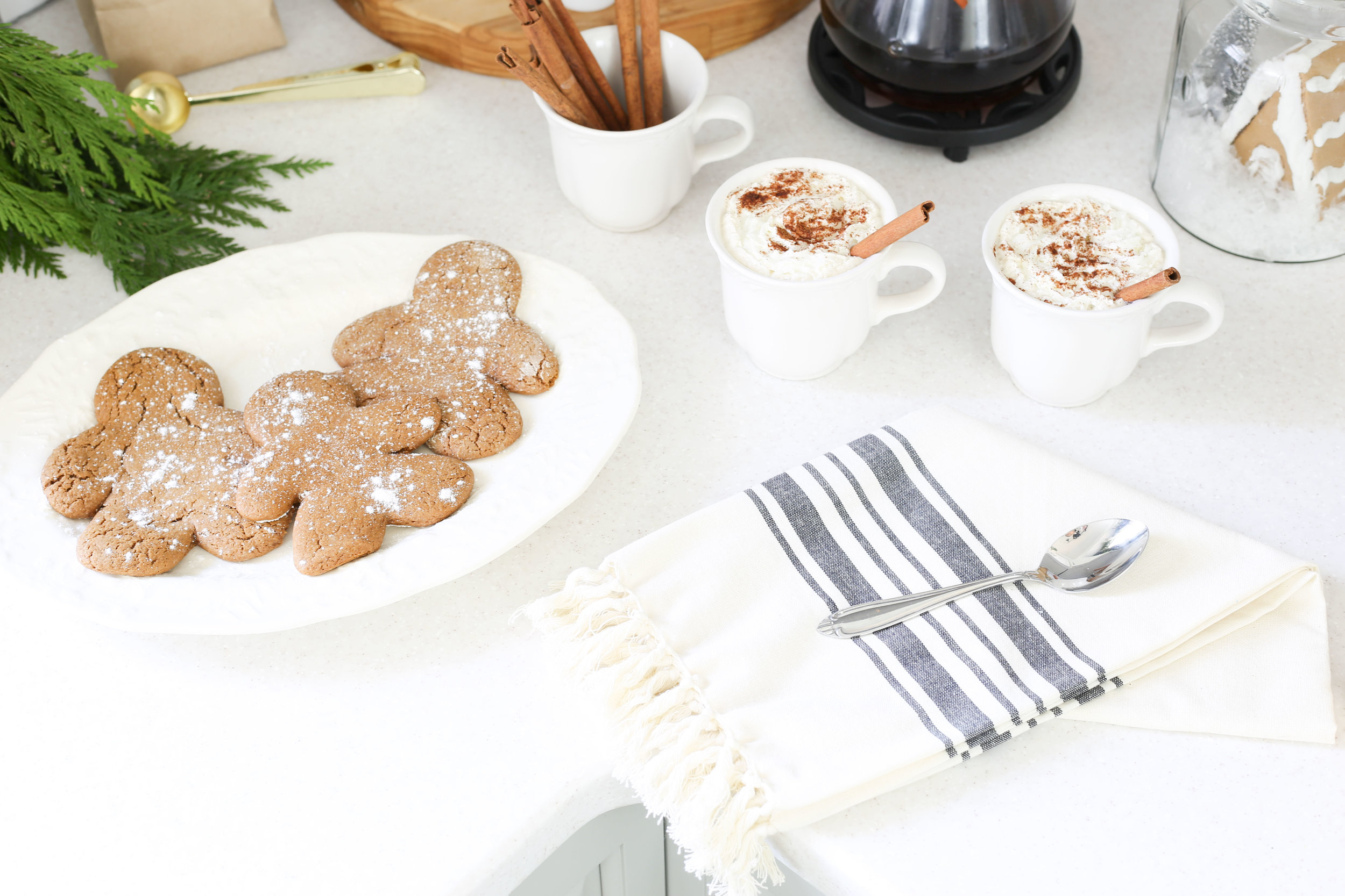 Christmas 2017 Home Tour: Deck The Blogs-Kitchen Decor with Cookies and Coffee- Plum Pretty Decor & Design's Christmas Home Tour