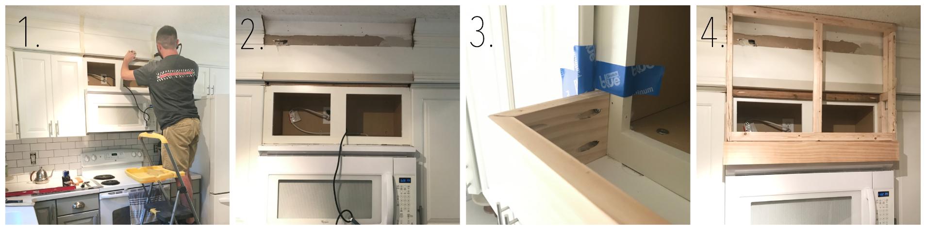 Custom Hood DIY Above Microwave
