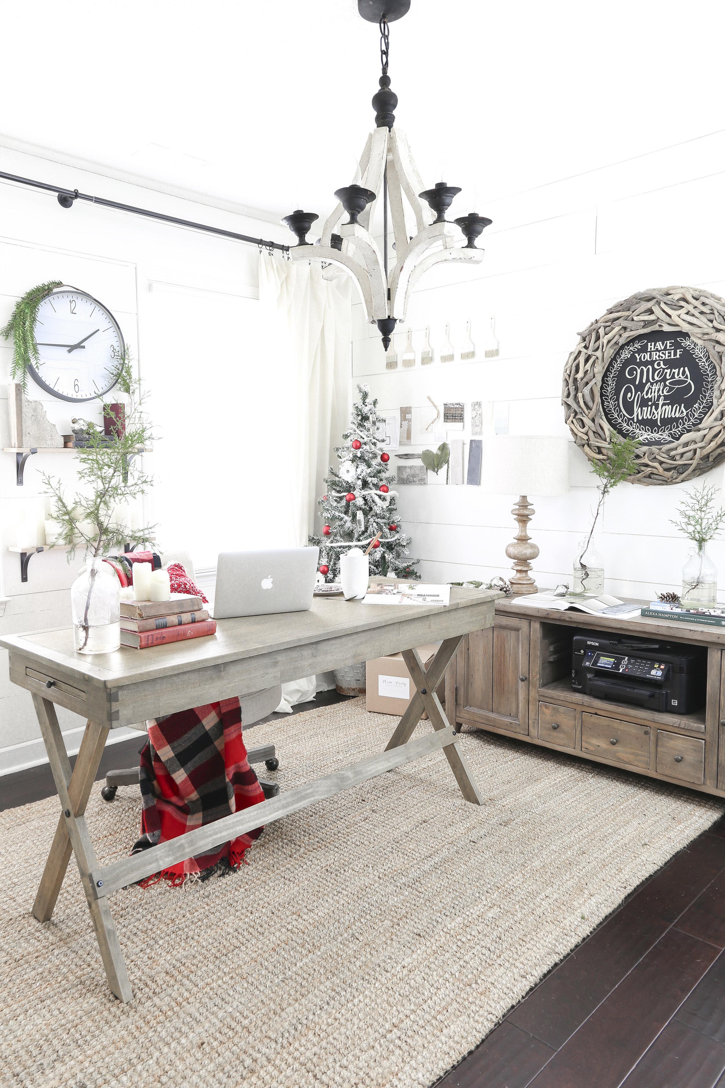 Christmas Home Tour- Holiday Office Decor - Plum Pretty Decor and Design