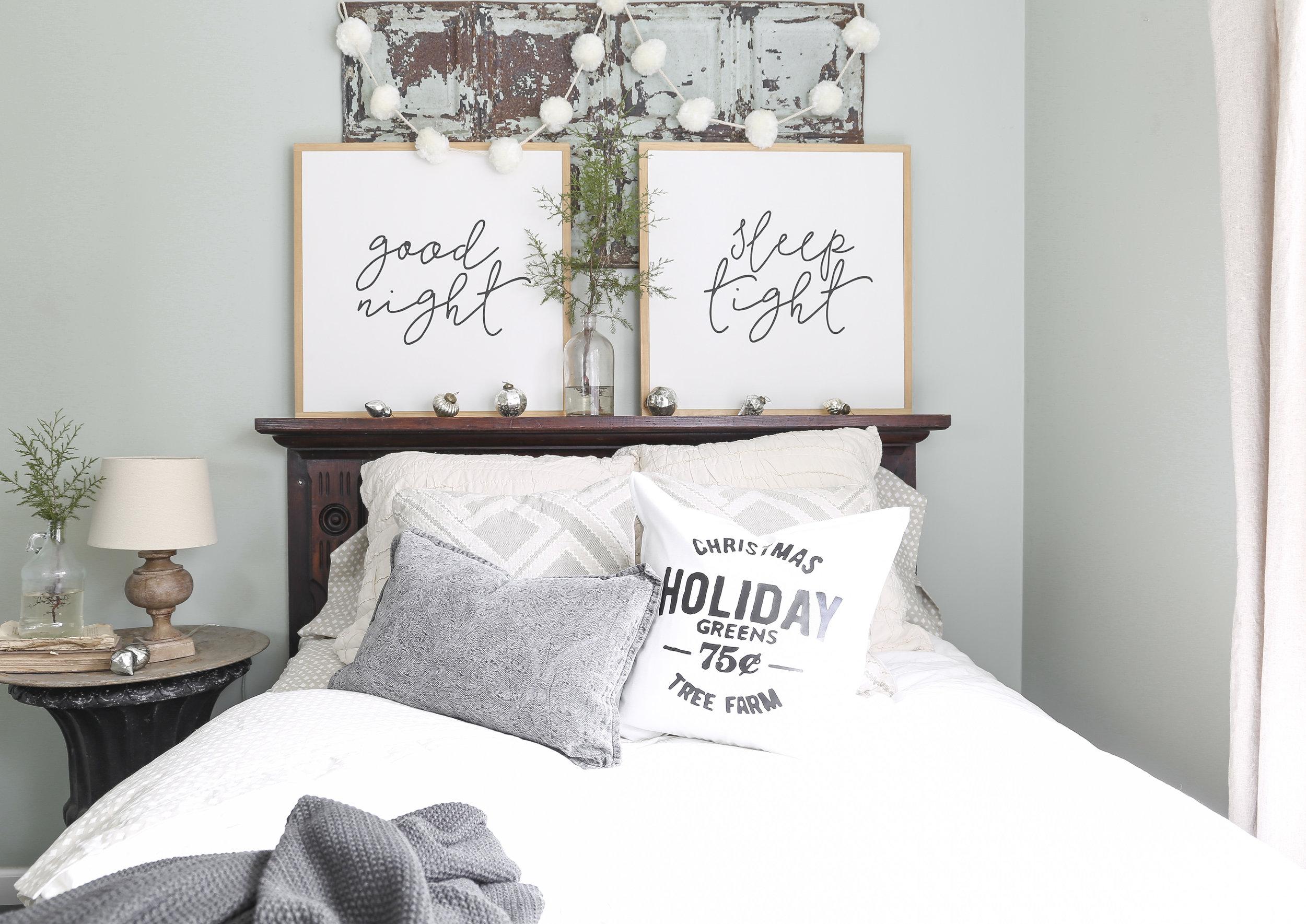 Christmas Home Tour- Guest Bedroom Christmas Decor- Plum Pretty Decor and Design
