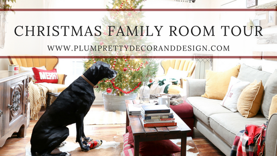 Family Room Christmas Tour- By Plum Pretty Decor and Design