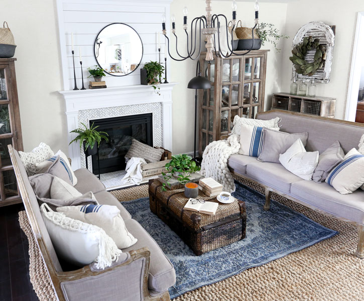 HomeGoods Modern Farmhouse Living Room Update with HomeGoods by Plum Pretty Decor & Design Co.