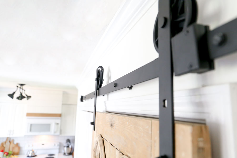 How to Install Sliding Barn Door Hardware- By Plum Pretty Decor & Design Co.