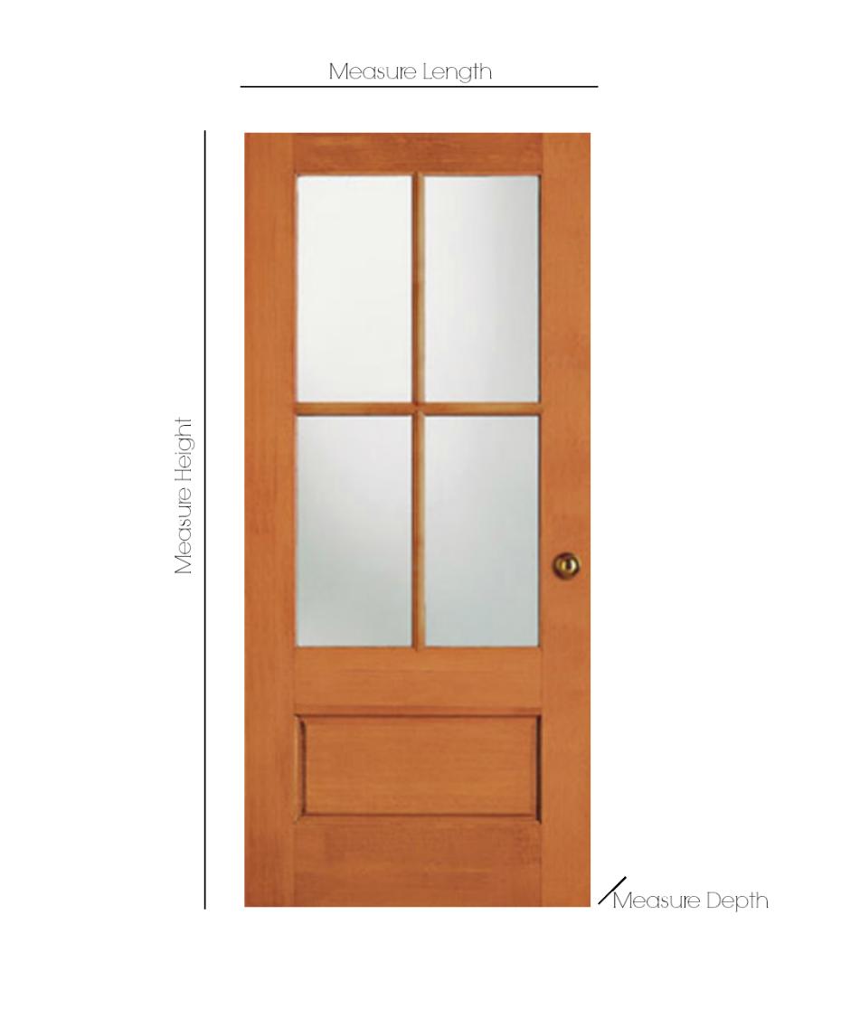 How to measure your door for ordering your new exterior door- How to install a new front door.