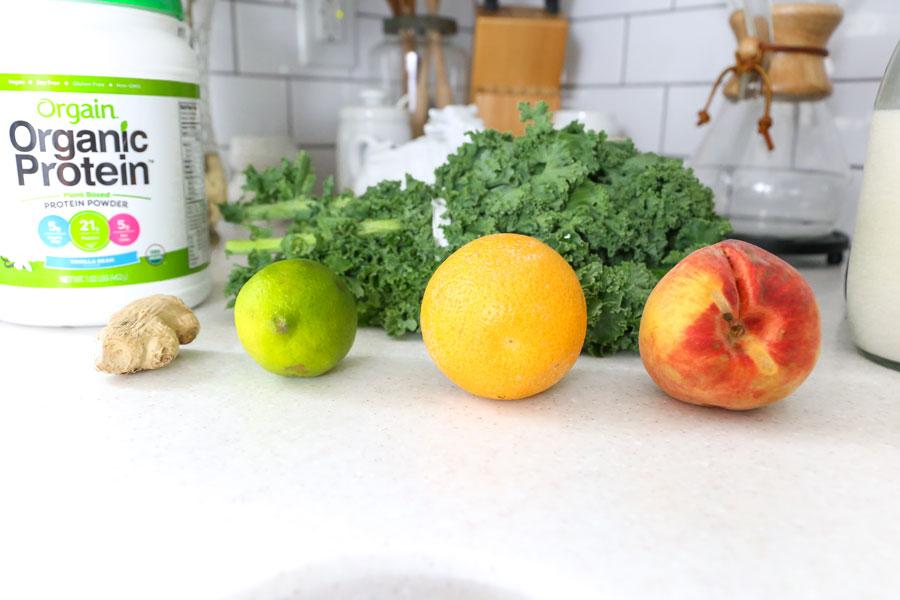 Healthy Peach Citrus Green Smoothie Recipe