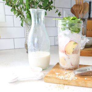 Peanut Butter Healthy Green Smoothie