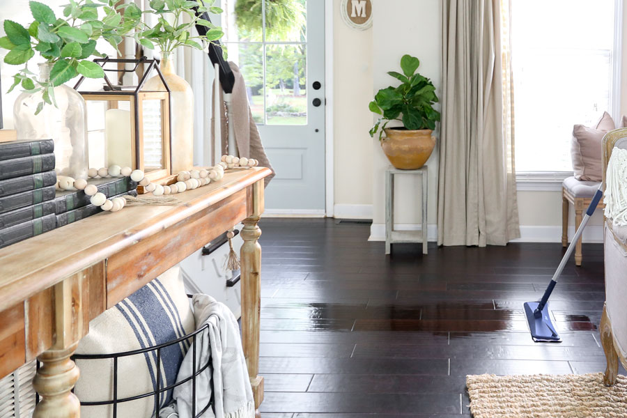 Bona Quick Clean Product for Cleaning Your Hardwood Floors. Used and Trusted by Plum Pretty Decor and Design.