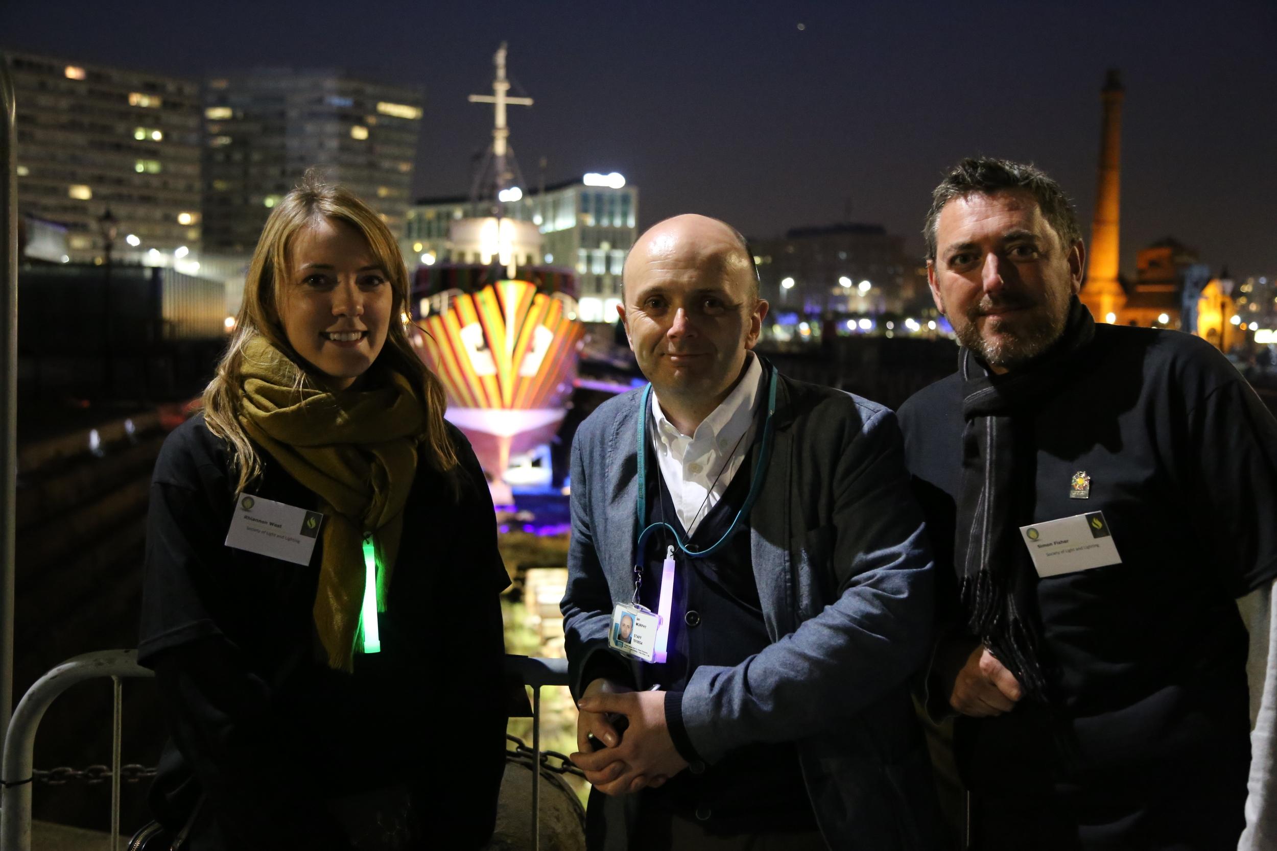 Simon, Chris and Myself (right to left)