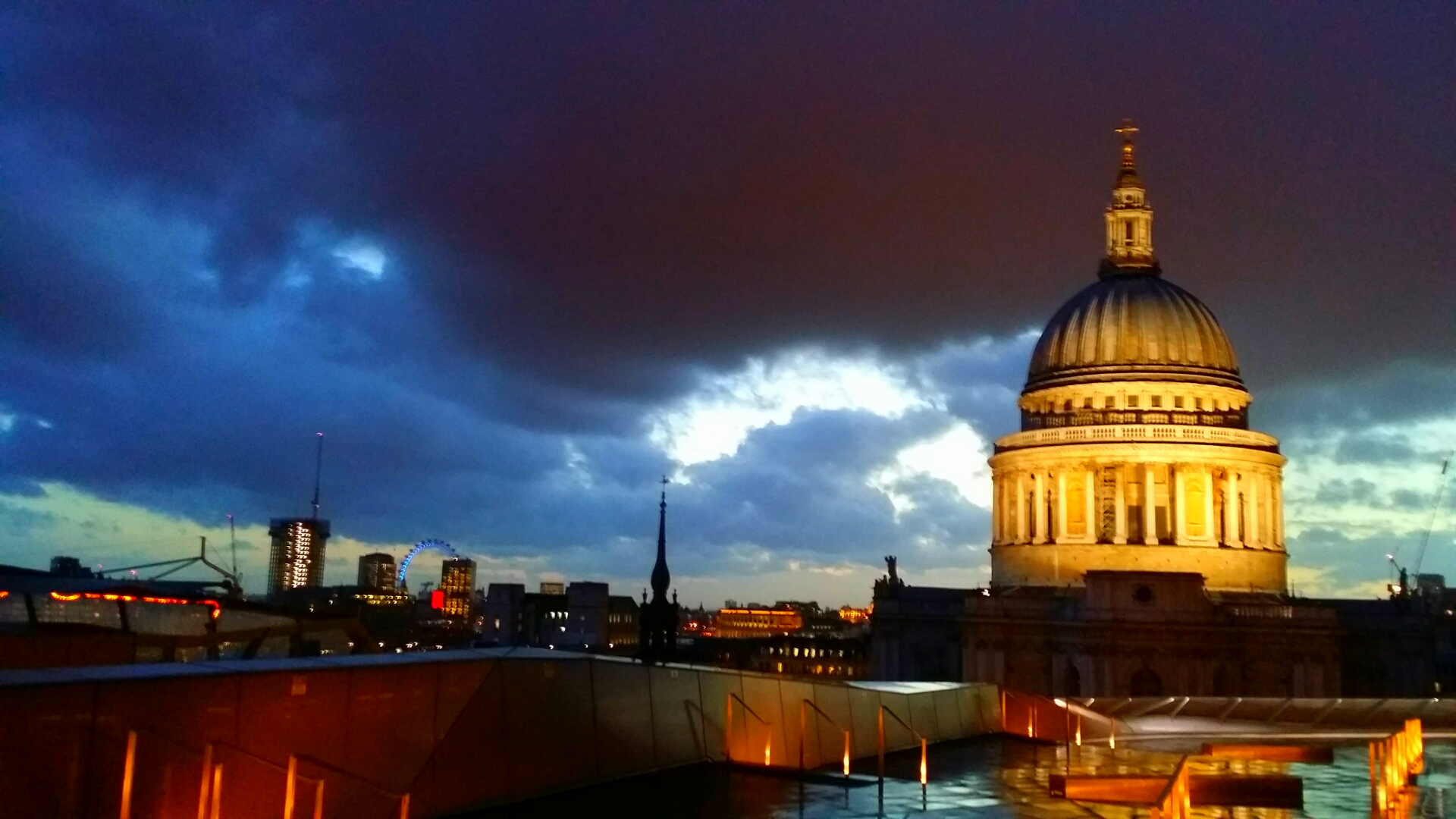 St Paul's on a stormy summer's night
