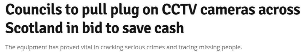 Scotland Daily Record CCTV cameras headline.JPG