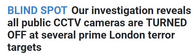 Sun headline 09 11 17 - CCTV Westminster switch on.JPG