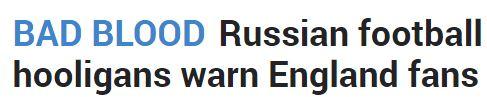 DV The Sun Russian World Cup 19 March 2018 headline.JPG