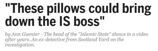 Pillows Baghdadi headline - 20 Minuten in English.JPG