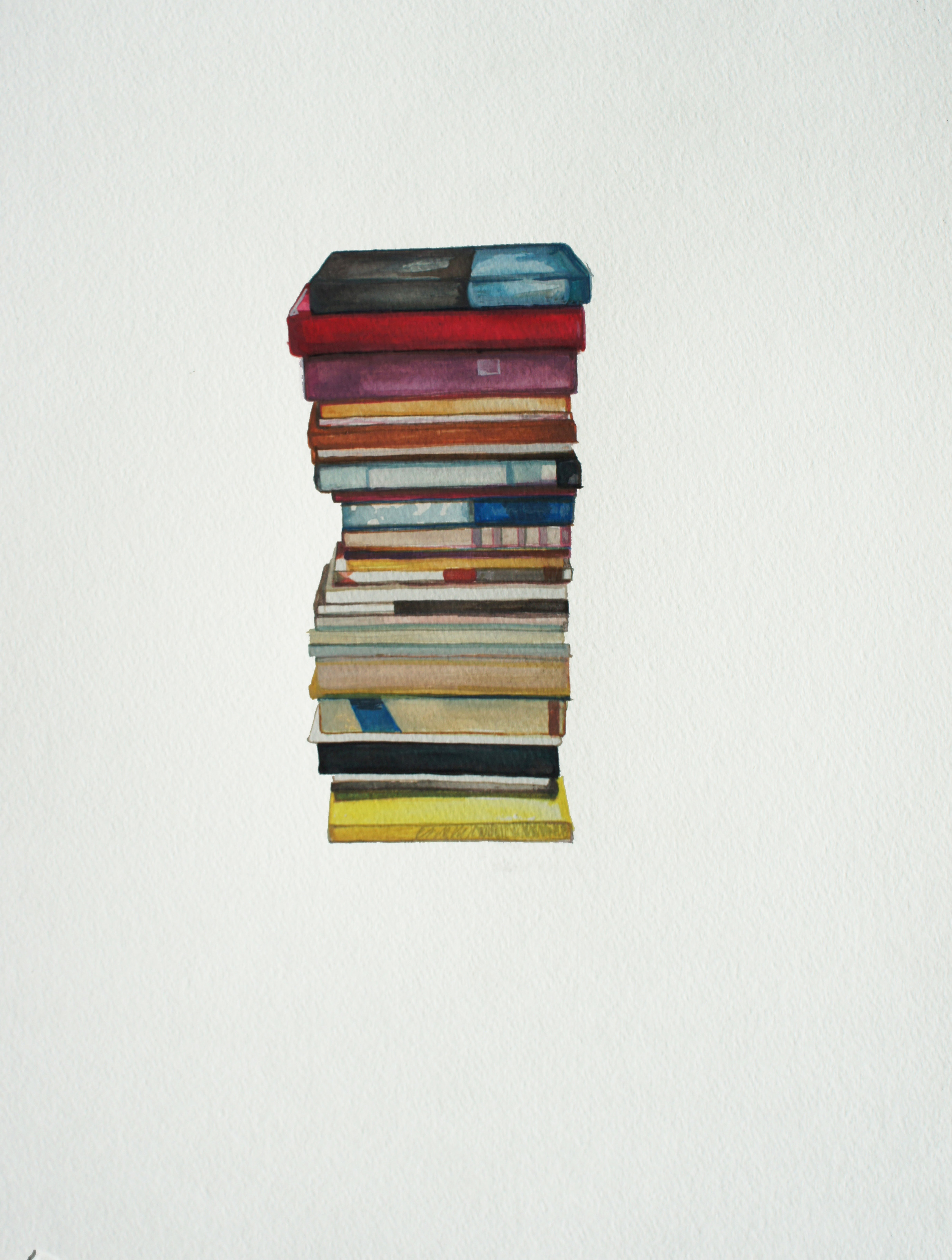 Adult Book Stacking
