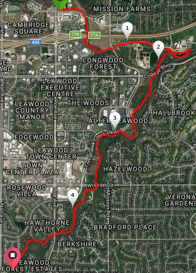 A 10 Mile Run from Coach Amy's new office on the Indian Creek and Tomahawk Trails