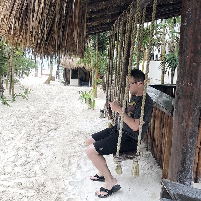Me on vacation trying to unplug 🙄! #businessasusual