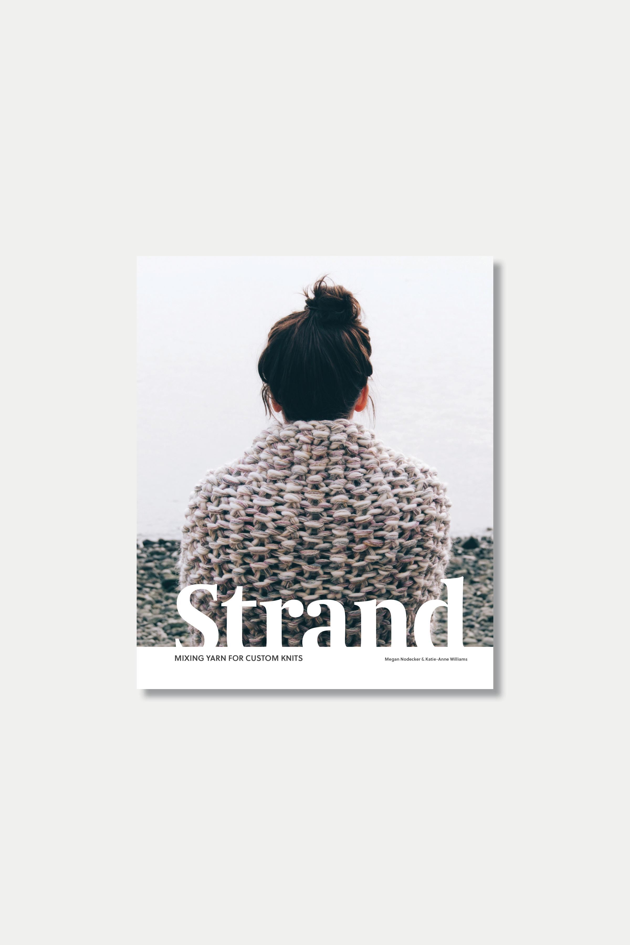 Book | Strand  Wholesale Price (min. 3): $20.00 RRSP: $30.00   Learn to knit and create unique chunky fabrics with Strand. Pip & Pin's first book shows you the ins and outs of knitting basics with a comprehensive illustrated guide, plus tips and tricks to get creative by combining yarns. Whether you're a beginner looking to learn and grow your skills or a seasoned knitter searching for inspiration, Strand is a book for all levels. Each book includes a digital download code.