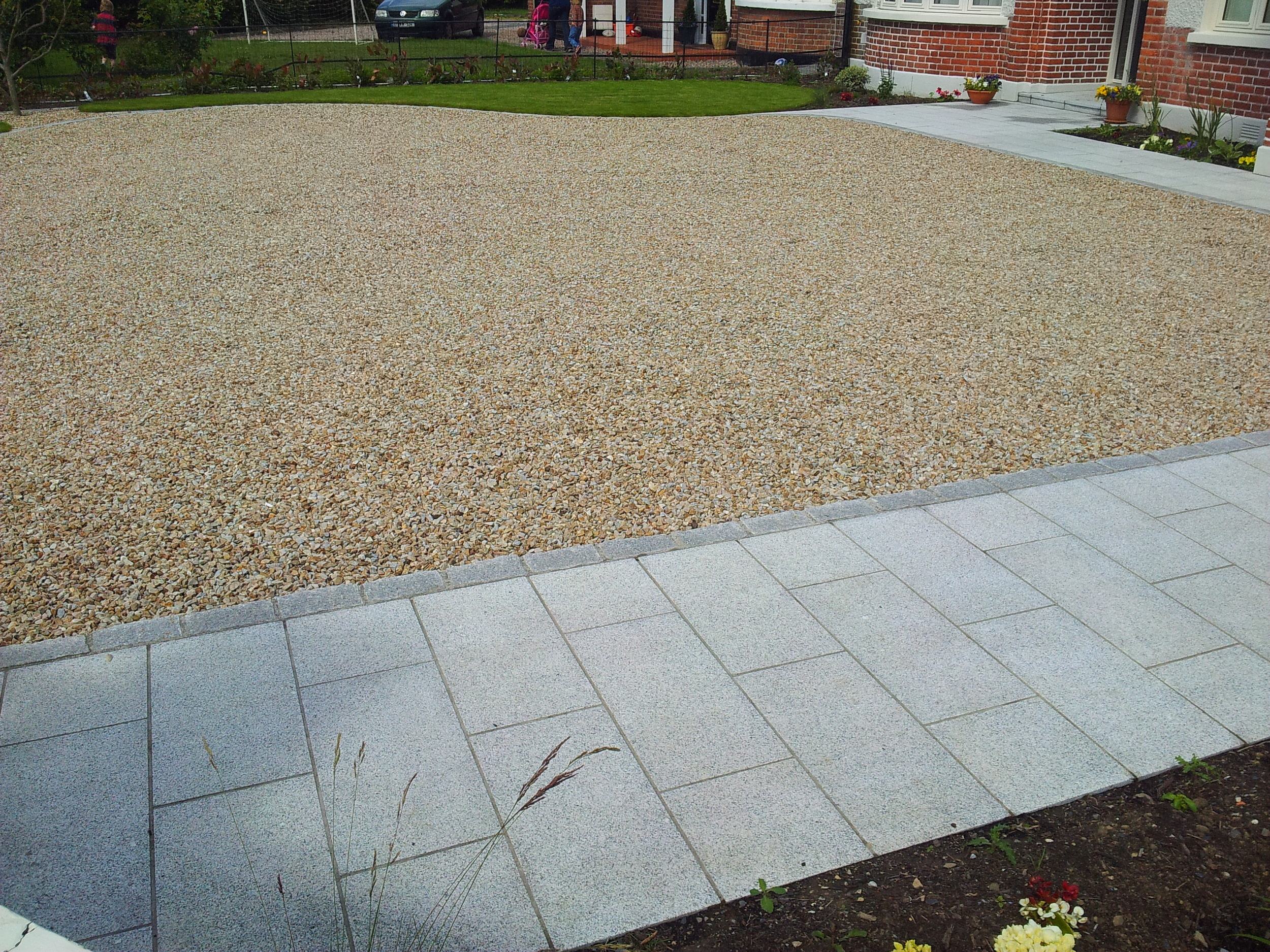 granite path paving